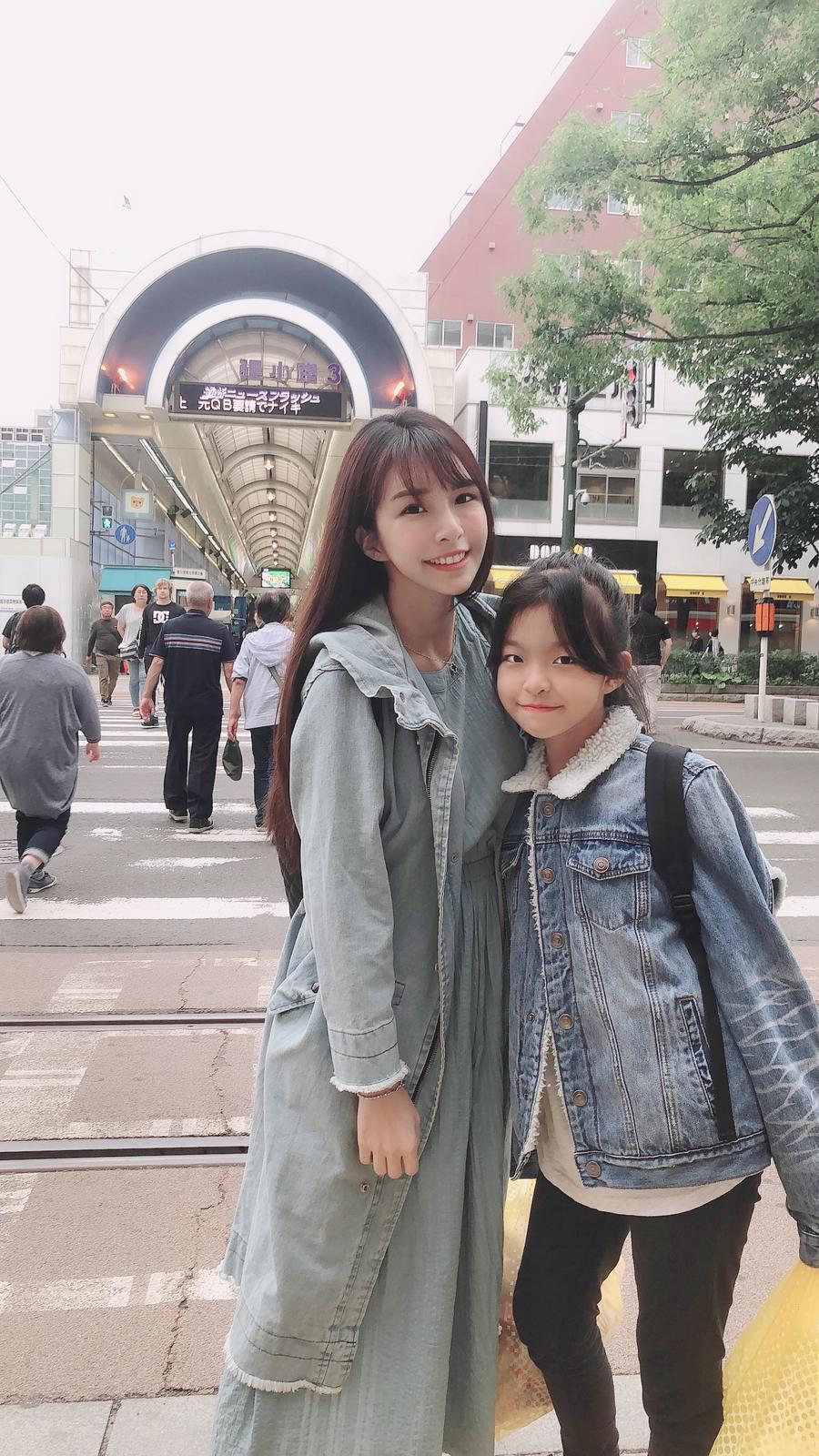 Lala帶女兒到日本北海道。圖/Lala提供
