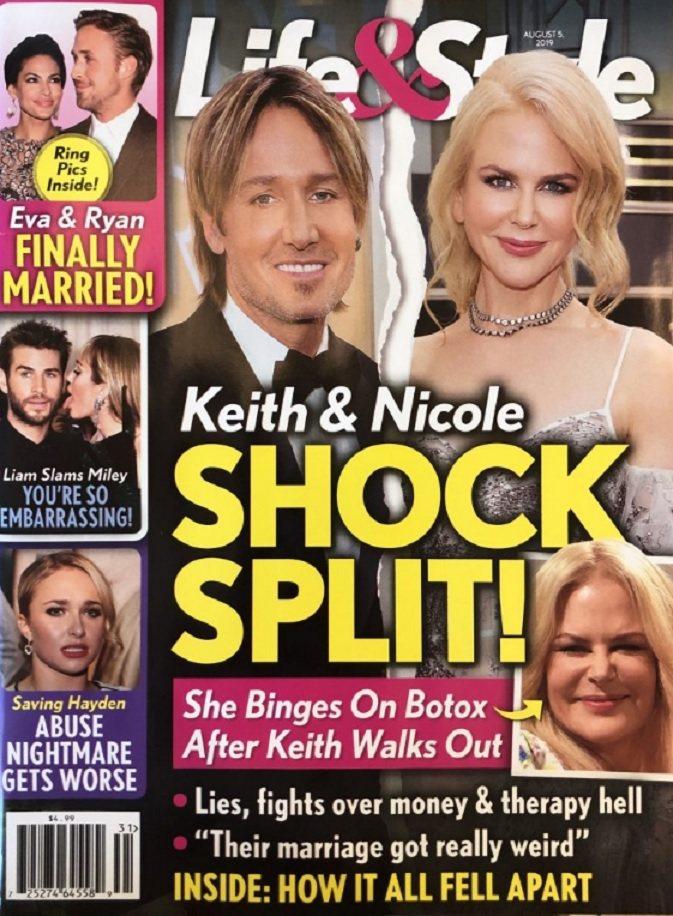 妮可基嫚與凱斯厄本婚姻遭唱衰。圖/摘自Life&Style