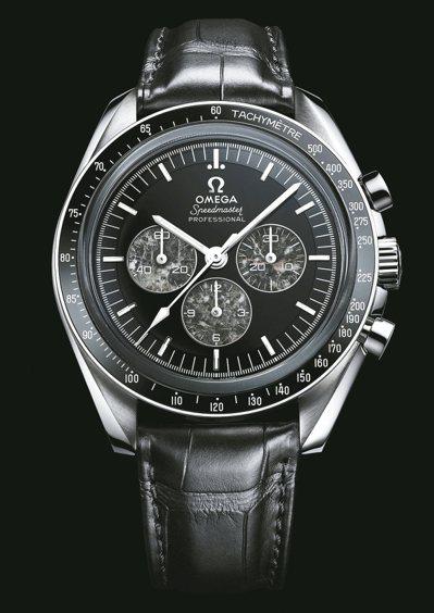 歐米茄阿波羅11號登月50周年超霸紀念表,鉑金表殼搭配縞瑪瑙、月球隕石表盤,價格...