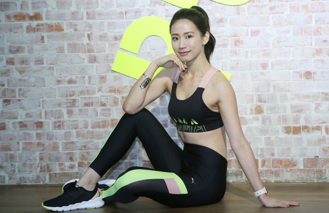 趙岱新出席2019 PUMA 「DO YOU 強悍女力」訓練課程。記者曾學仁/攝...