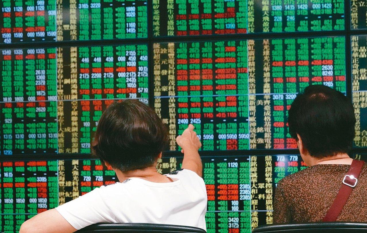 號子裡的台股投資人緊盯大盤走勢。 記者杜建重/攝影