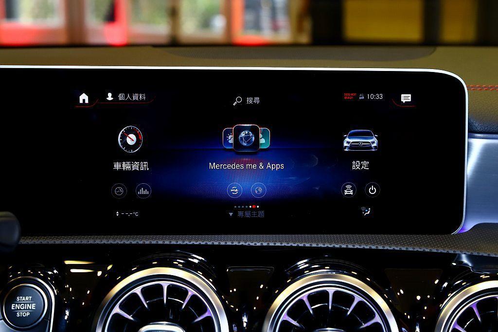 賓士CLA標準配備Mercedes me connect互聯功能,車主僅須至經銷...