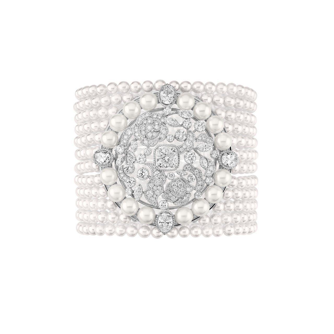 11條珍珠串鍊組成的Broderie Byzantine手鍊,1,300萬6,0...
