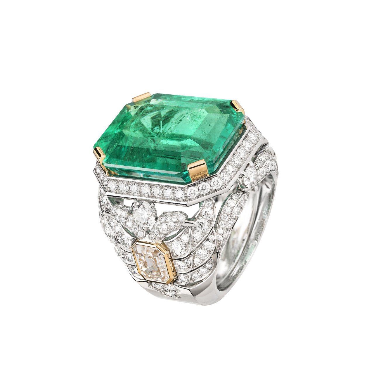 Aigle Cambon戒指,鑲嵌19.71克拉哥倫比亞祖母綠寶石,2,506萬...