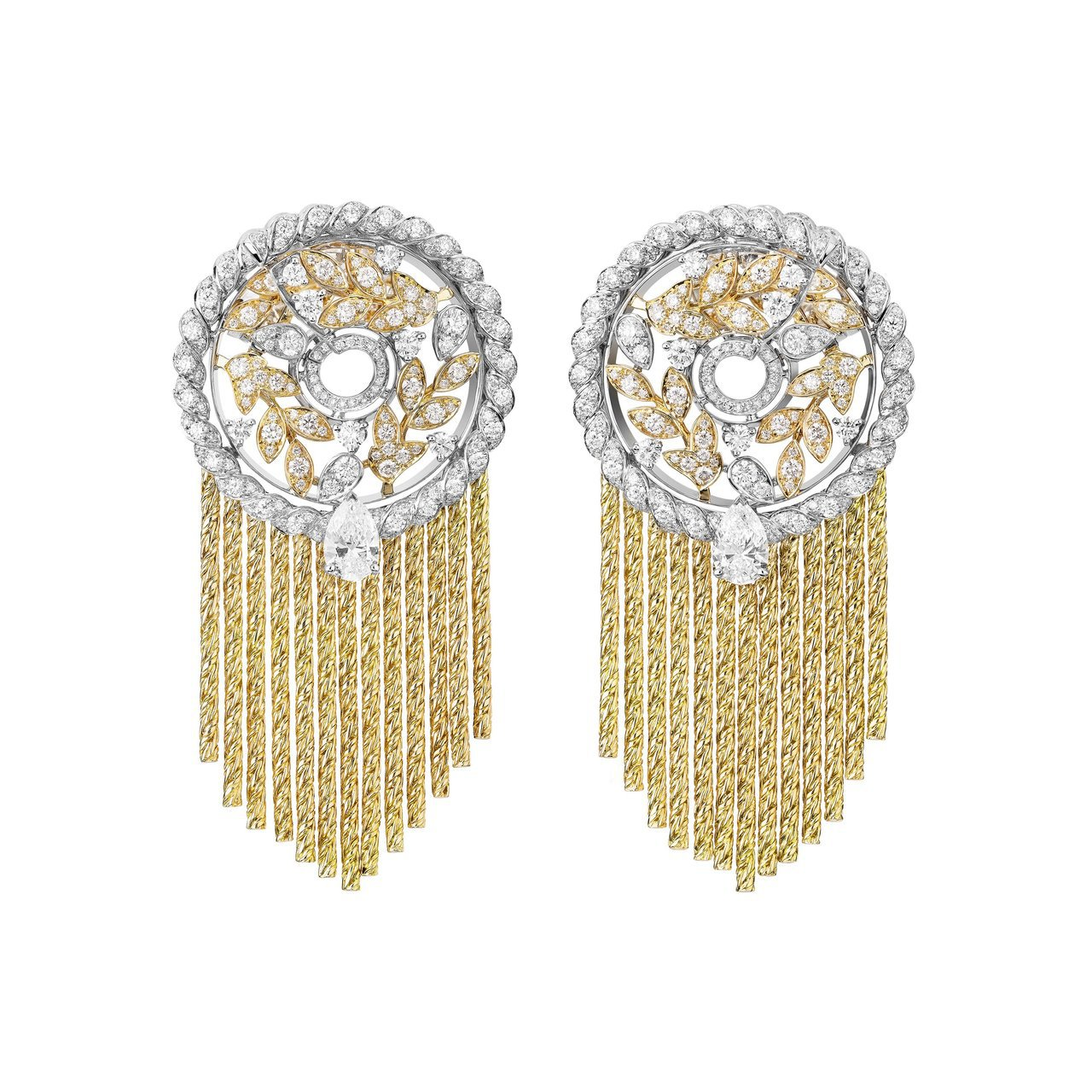Blé Gabrielle耳環,用柔韌的K金流蘇呈現麥浪隨風搖曳之美,539萬3...