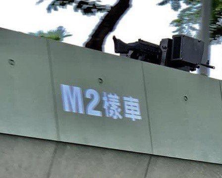 國防部正式對外披露雲豹二代甲車最新M2樣車在濁水溪進行戰術測試的畫面。記者洪哲政...