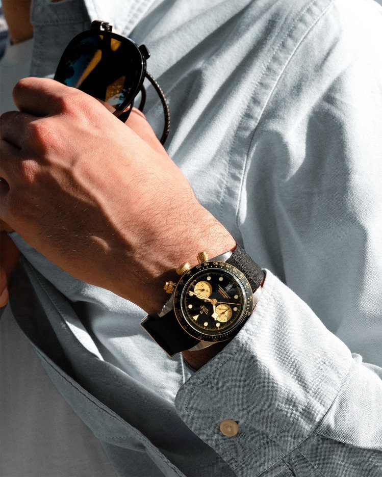 帝舵Black Bay Chrono S&G(碧灣計時型黃金鋼款)41毫米自動腕...