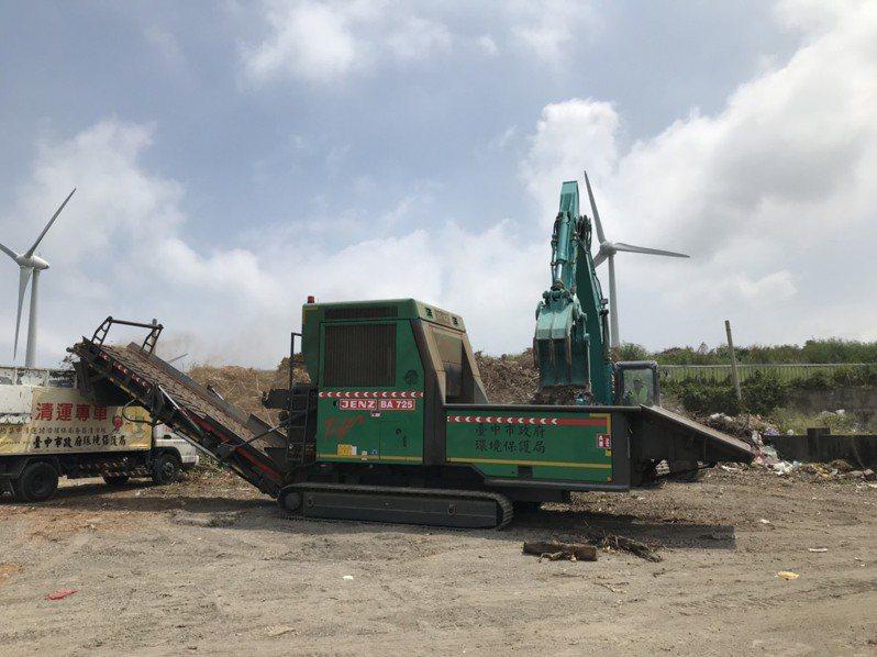 大甲綠資材中心完工,可處理農業廢棄物,轉化成再利用物質。圖/台中市議員施志昌提供