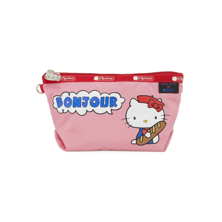 Hello Kitty x LeSportsac聯名系列「BONJOUR」中梯形...