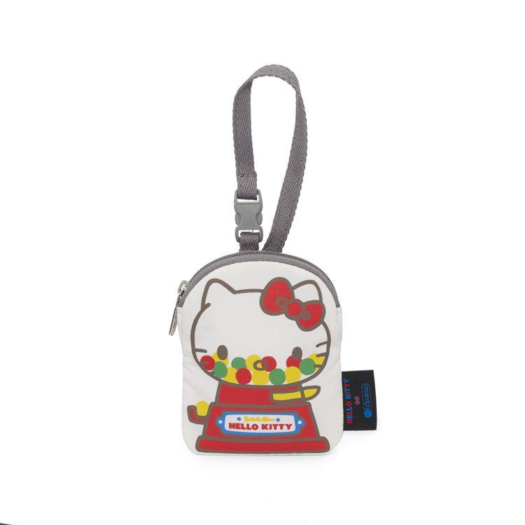 Hello Kitty x LeSportsac聯名系列扭蛋機吊飾,1,450元...