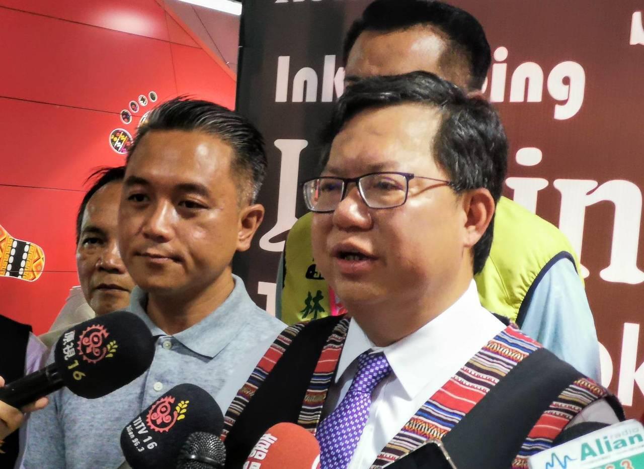 桃園市長鄭文燦今被問及對柯文哲組黨的看法,他認為所有健康良性的競爭都是好事。記者...