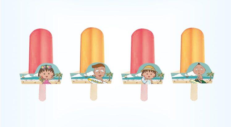 「夏日風櫻桃小丸子天然冰棒」售價60元。圖/業者提供
