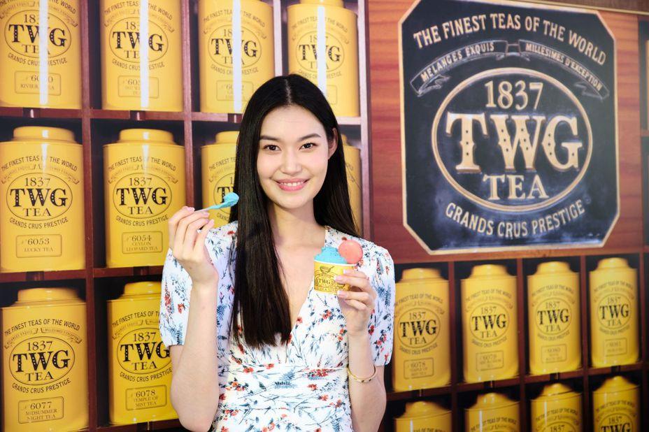 新生代時尚名媛董若彤也到場品嘗新冰品。圖/TWG Tea提供