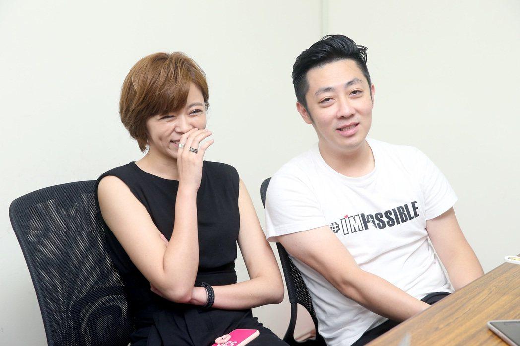艾成(右)表示對王瞳是真愛,結婚是其次。圖/本報資料照片