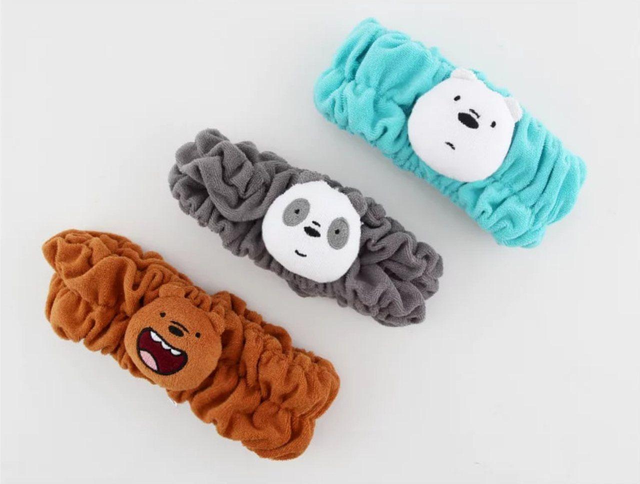 熊熊遇見你束髮帶399元。圖/新光三越提供