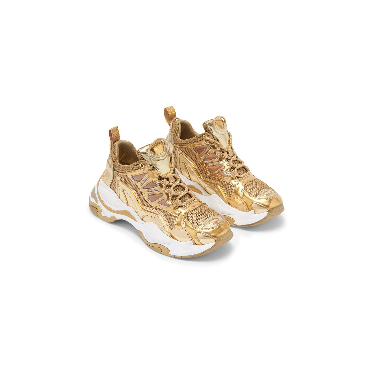 sandro Astro金色老爹鞋,售價13,680元。圖/sandro提供