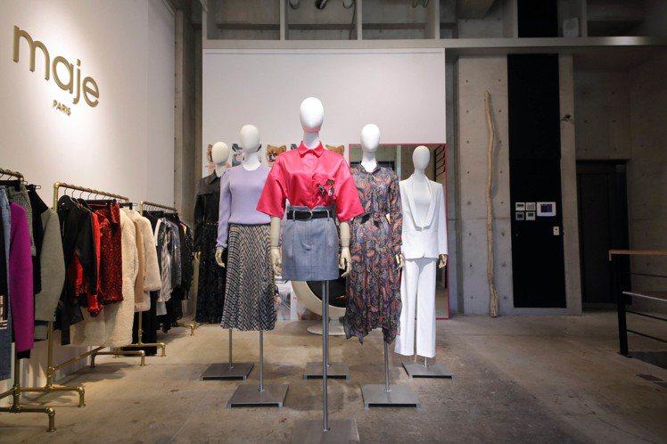 maje發表2019秋冬系列,以巴黎女子的一日穿搭做變化。圖/maje提供