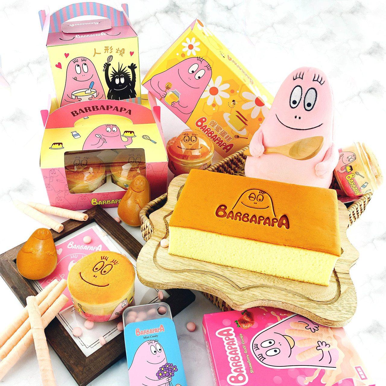 泡泡先生主題快閃店推出眾多系列商品。圖/雅蒙蒂文創烘焙禮品提供