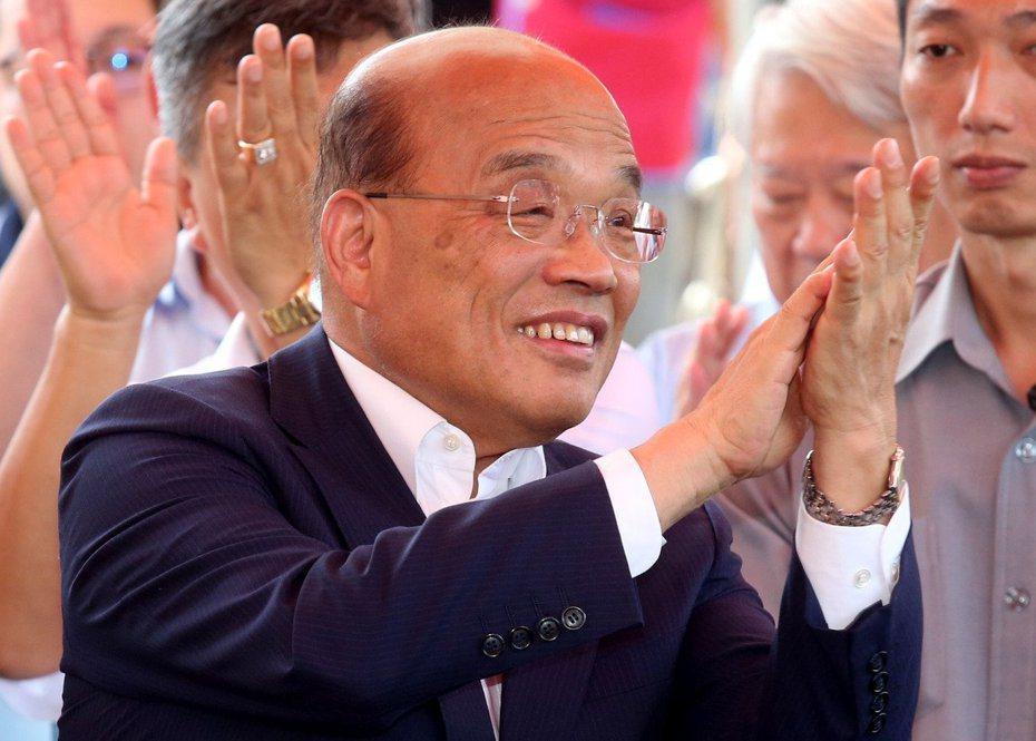 行政院長蘇貞昌今再推出200天政績影片,列出9項繼續衝的政績。 圖/聯合報系資料照片