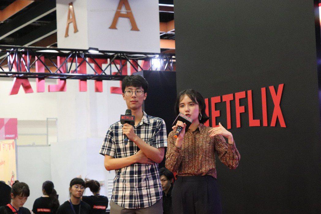 五號影像成員,羅琛智(左)、張孟彤(右)