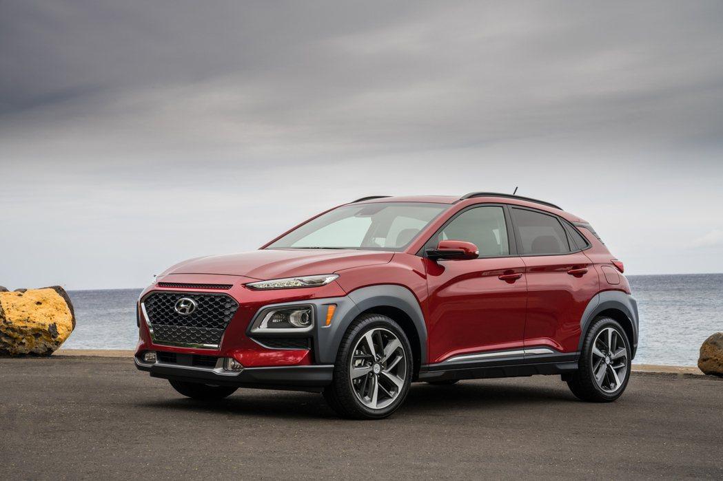 新年式美規Hyundai Kona新增SCC主動式車距維持系統。 摘自Hyund...