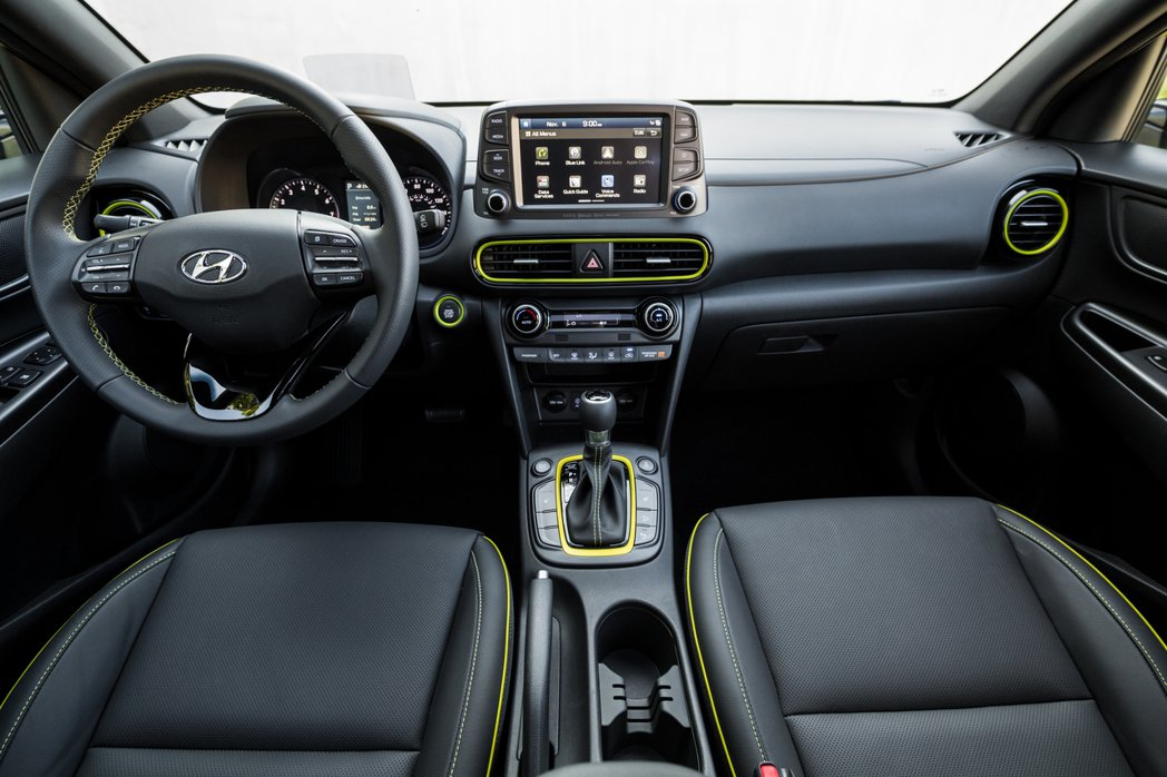 美規Hyundai Kona內裝。 摘自Hyundai