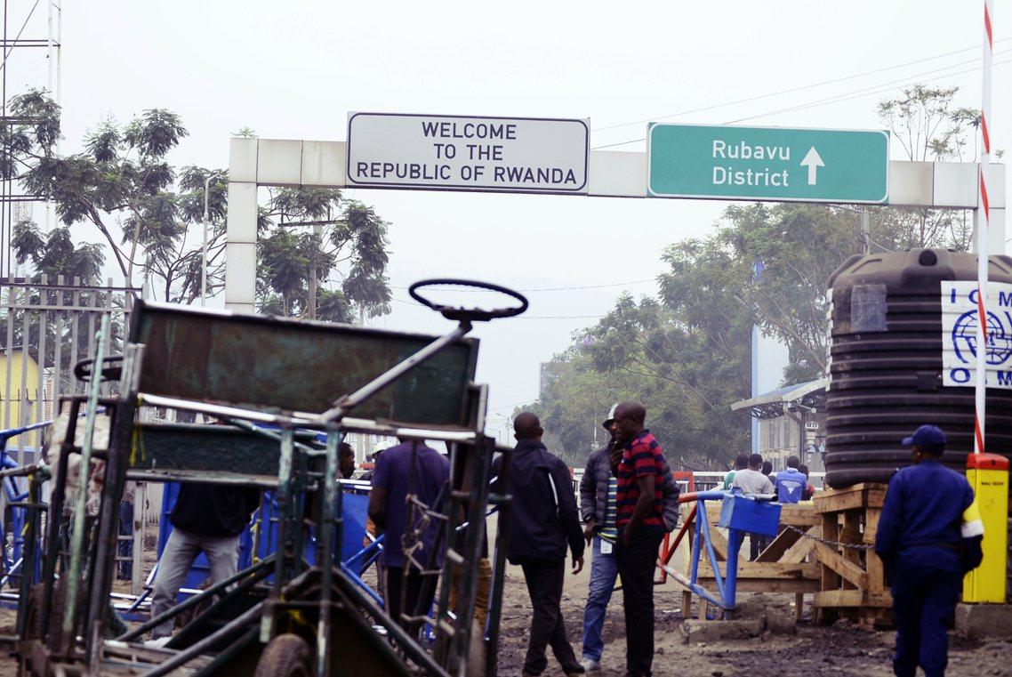 盧安達-剛果邊境。 圖/法新社