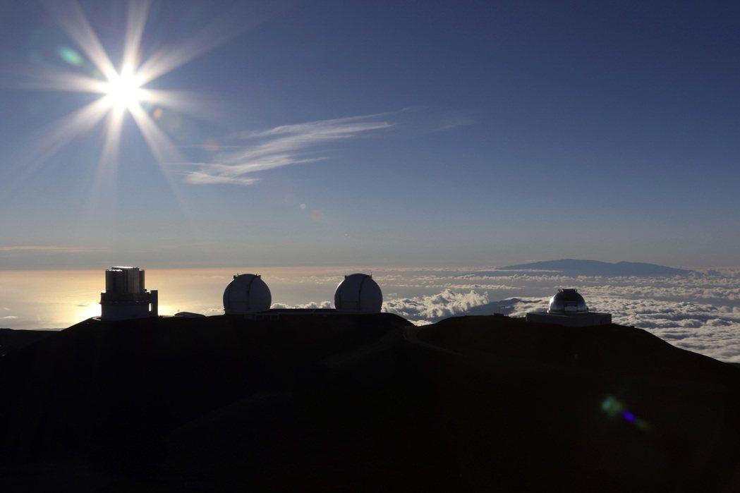 夏威夷毛納基山頂是全北半球最佳天文觀測地點。 (美聯社)