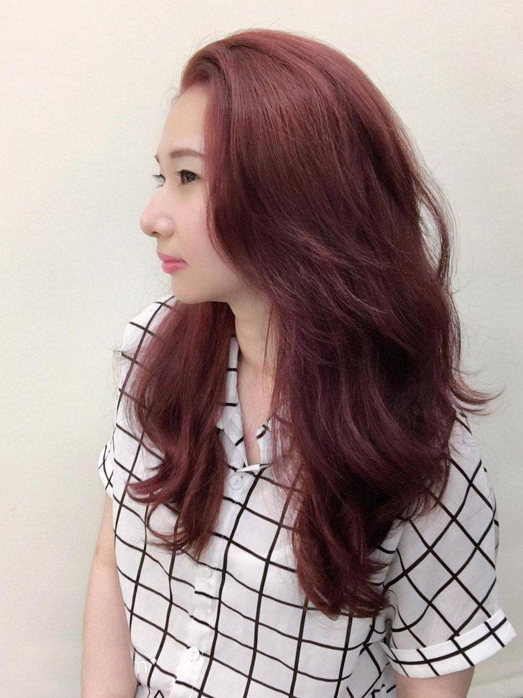 髮型創作/ 尚洋髮藝 基隆店 / 露比 Ruby。圖/StyleMap美配提供