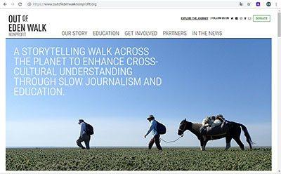 透過網站outofedenwalk.org關注「走出伊甸園」計畫。