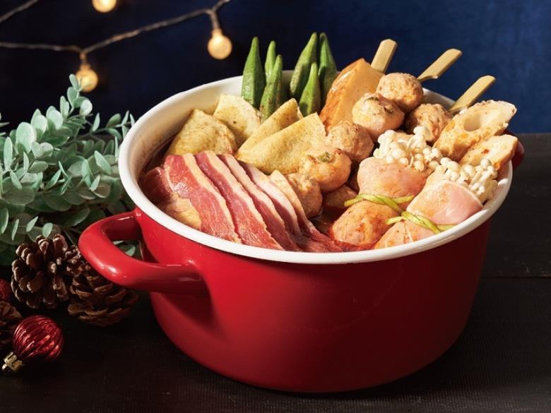 麻辣火鍋和火鍋料。圖/業者提供
