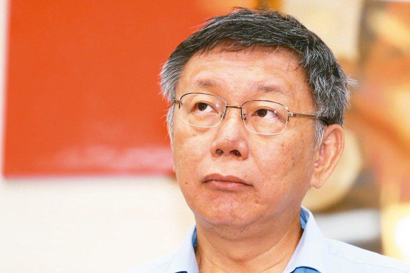 台北市長柯文哲昨天宣布將籌組「台灣民眾黨」,綠黨最新民調顯示,台民黨的政黨支持度居第三位,僅次於藍綠兩大黨。記者王騰毅/攝影
