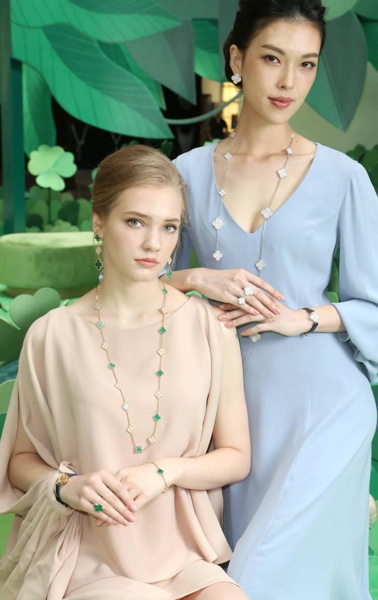 模特兒演繹Alhambra系列珠寶。記者陳立凱/攝影