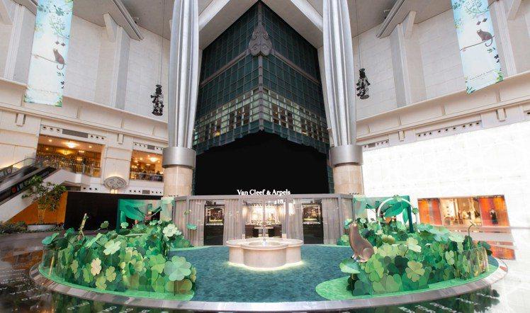 梵克雅寶「Alhambra幸運花園」展覽8月3日起至31日止於台北101購物中心...