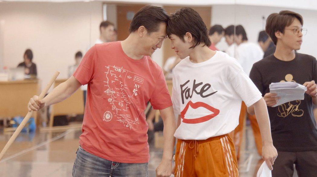 哈林、老蕭為音樂喜劇「西哈遊記-魔二代再起」彩排。圖/耳東劇團提供