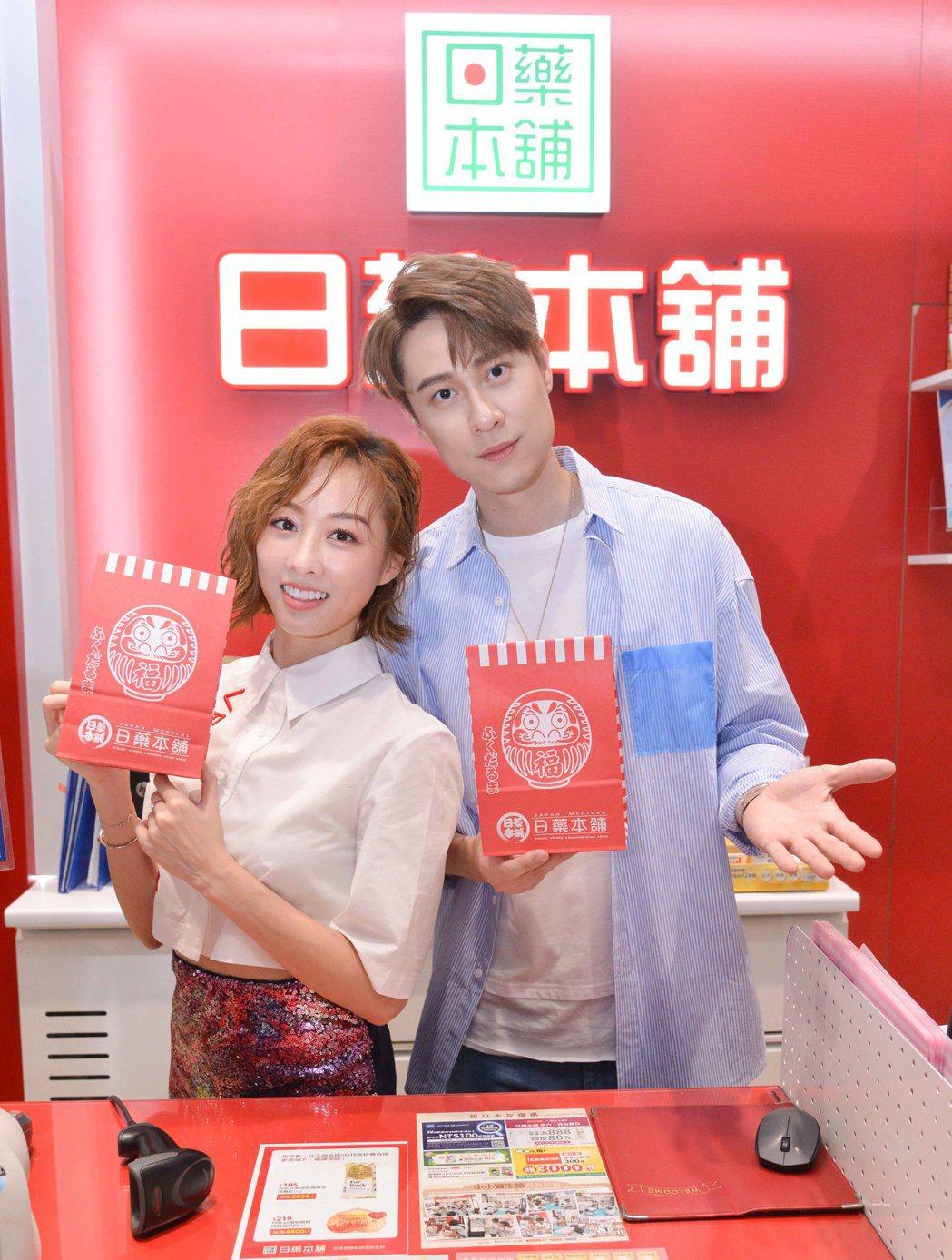 夏語心、劉書宏出席一日店長活動,暢談保養秘訣。圖/東森提供