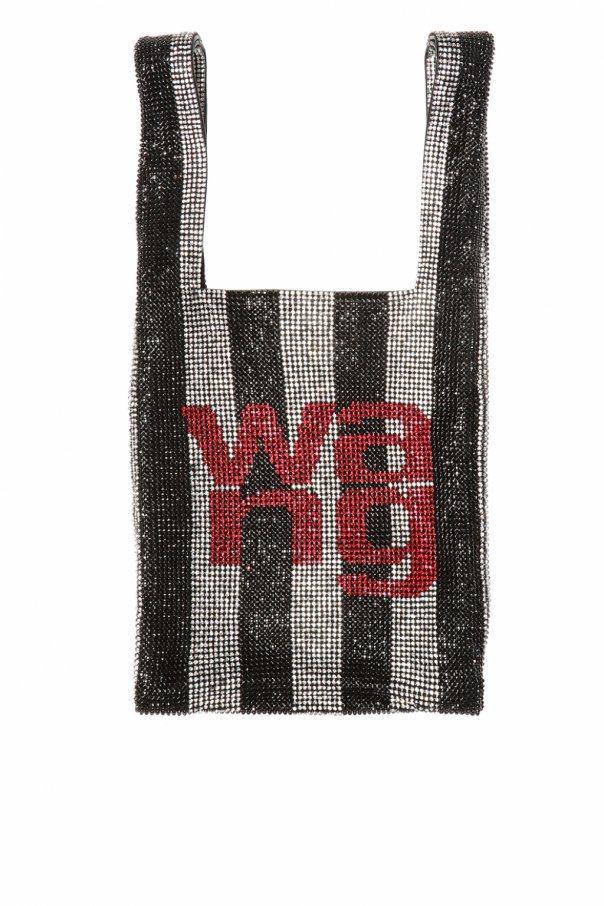 wangloc mini shopper wang字樣水鑽小提袋,售價68,80...