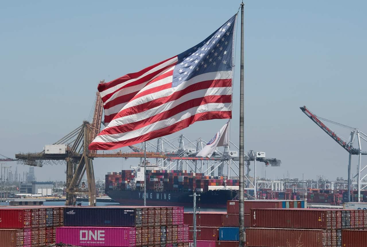 今年上半年,中國大陸對美進出口雙雙呈現衰退表現。法新社