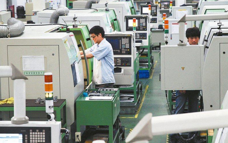圖為機械業廠區作業狀況示意圖。 本報系資料庫