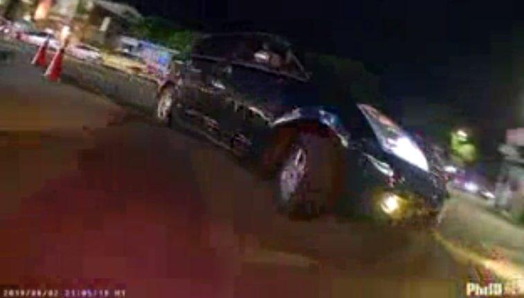 警方事後依車號連繫上34歲翁姓車主。記者王長鼎/翻攝