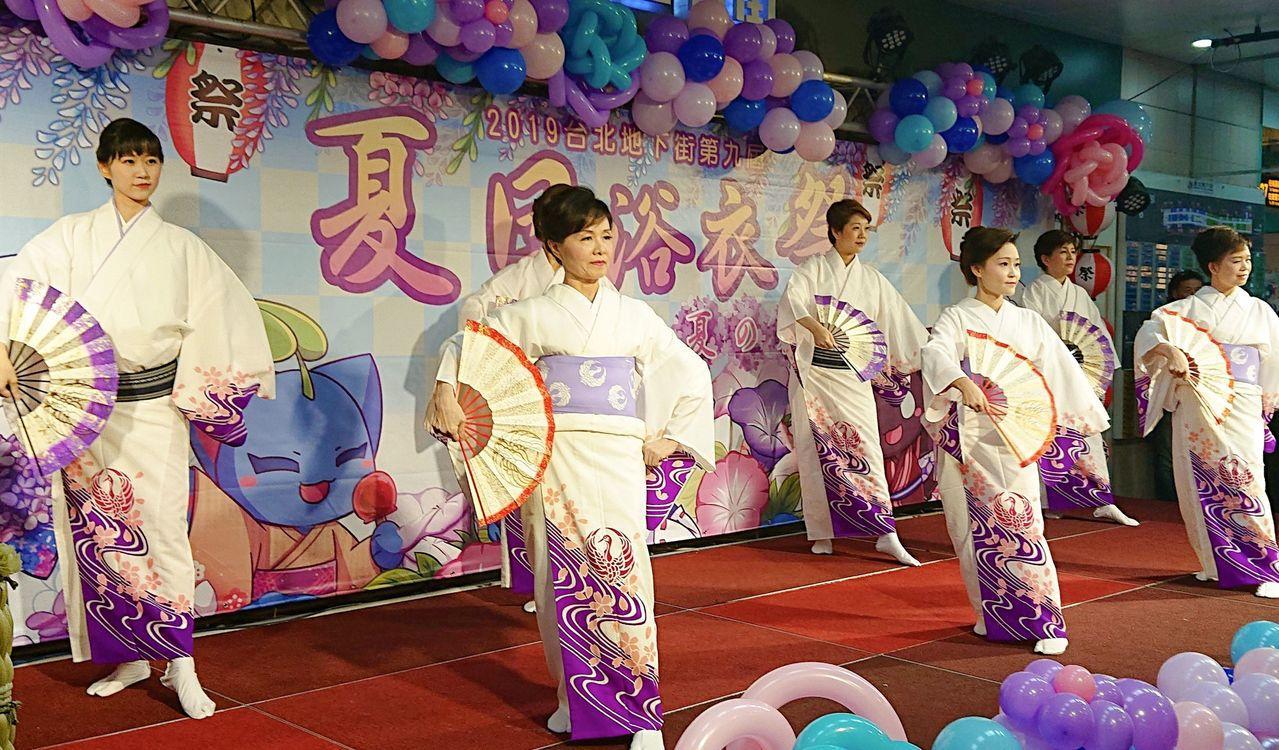 「第九屆夏日花火浴衣祭」8月3日、4日在台北地下街舉辦活動,包括來自日本靜岡藝能...