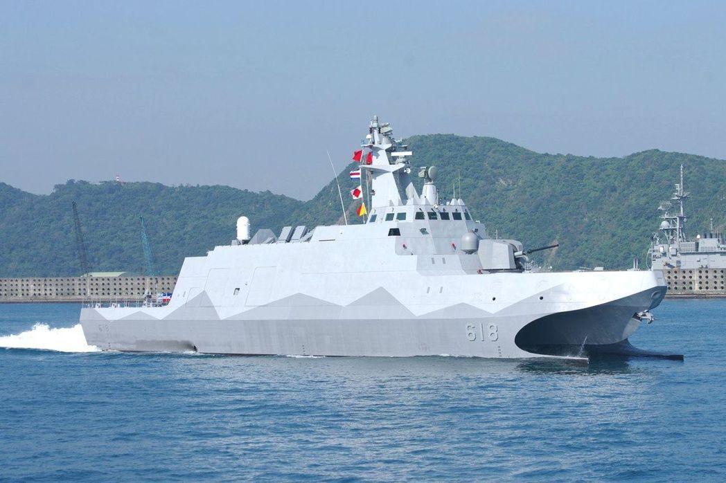 圖為海巡新造600噸級巡防艦。圖/聯合報系資料照片