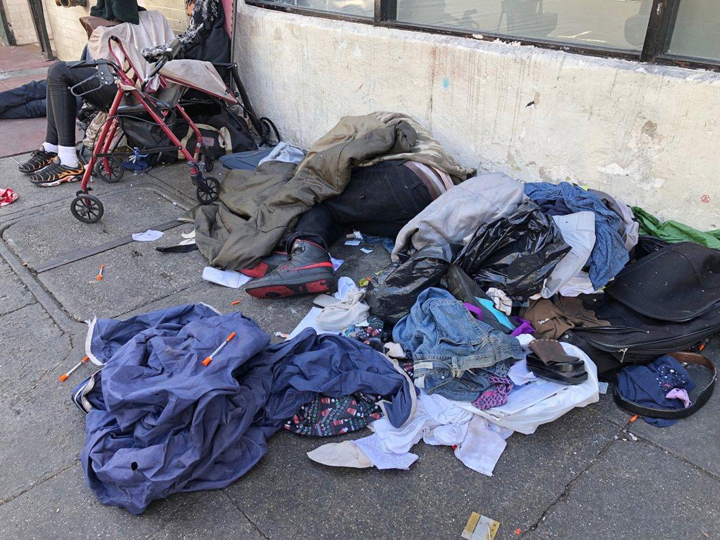 舊金山遊民問題非常嚴重,過去兩年遊民人口增加了17%。(美聯社)