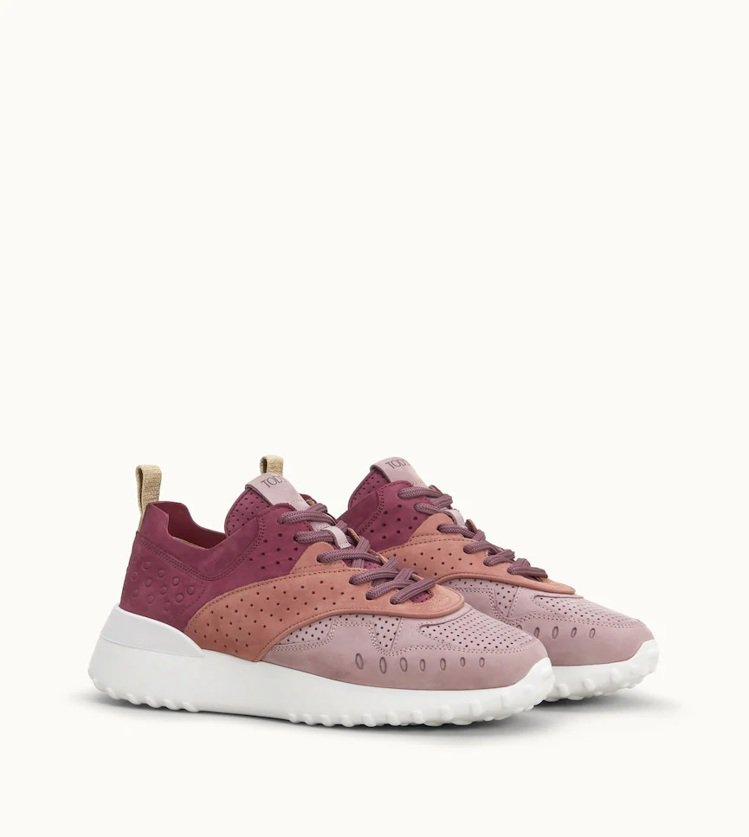 TODS麂皮撞色拼接休閒鞋,24,500元。圖/迪生提供