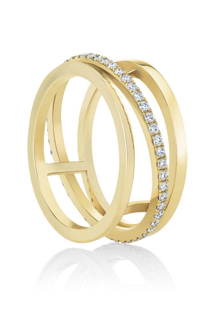 De Beers Horizon戒指,18K黃金,鑽石總重約0.36 克拉,約1...