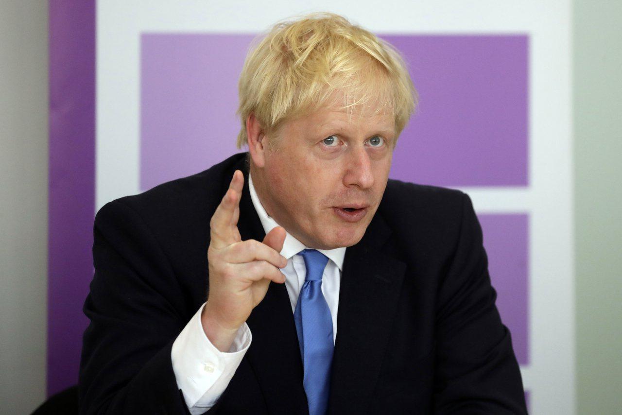 英國首相強生(Boris Johnson)。(美聯社)