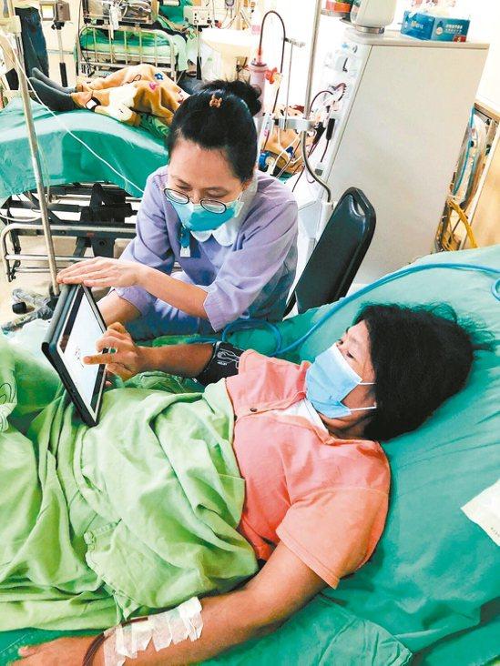 三總研發智慧化居家照護App,提升病人自我管理技能。 圖/三總提供