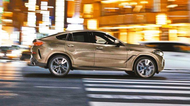 BMW X6依然維持Sports Activity Coupe的運動化造型。 圖...