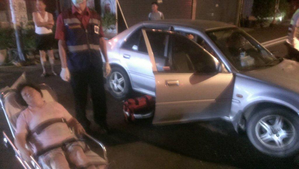 2015年8月,鍾姓軍人涉嫌酒駕肇事逃逸,造成兩人受傷。圖/民眾提供