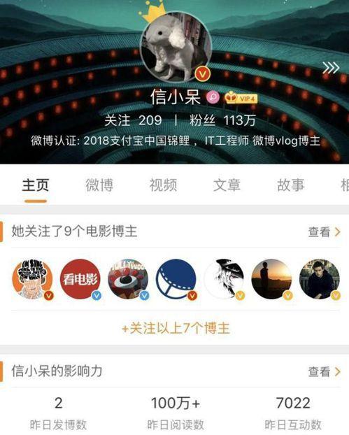 信小呆的微博因其成為「中國錦鯉」幸運兒,粉絲暴增至百萬。(取自新浪微博)